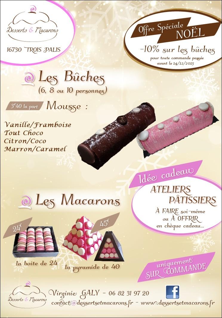 Flyer Noel Flyer noel 2015   Desserts & macarons